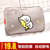 Hot water bottle charging explosion-proof electric heating treasure hot treasure female plush cute injection plumbing baby cartoon warm water bag hand warmers