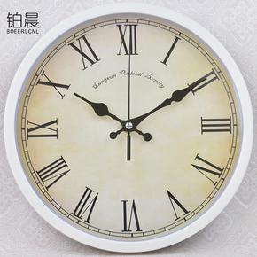 铂晨现代欧式罗马静音摇摆挂钟时尚创意钟表客厅卧室挂表个性时钟