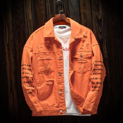 橙色男外套