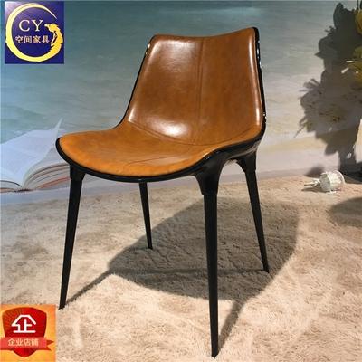 设计师椅戴安娜靠背椅时尚创意玻璃钢家具咖啡椅 餐厅休闲椅子
