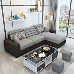 别墅舒适沙发温馨3人位省空间店面有格调贵妃椅出租屋家用多人