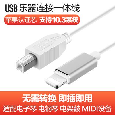 一体线10.3.2苹果iPhone/iPad电子钢琴MIDI键盘连接USB转接线otg品牌排行