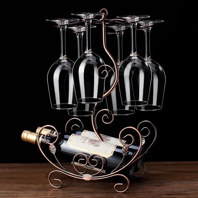 红酒架摆件红酒杯架倒挂家用个性创意酒架摆件红酒架杯架展示架