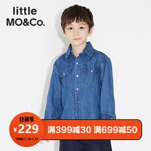 纯棉牛仔儿童牛仔衬衫 littlemoco男童衬衫 春秋男童衬衣长袖