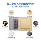 International Electrician Champagne Switch Socket 86 Panel Household Wall Socket Network Telephone Computer Socket