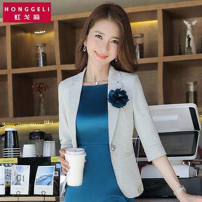 白色chic小西装套装女韩版修身白领时尚气质休闲西服外套短款春夏