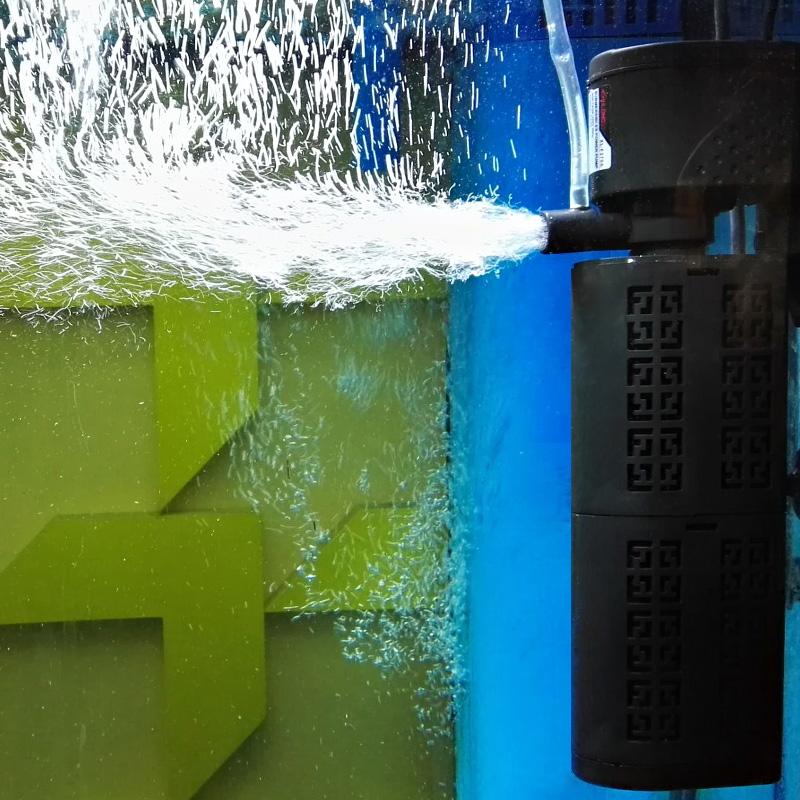 鱼缸过滤器内置静音鱼缸水泵三合一水族箱过滤器增氧泵养鱼过滤器