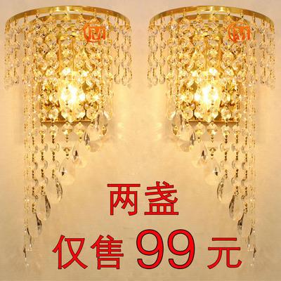 欧式客厅水晶壁灯