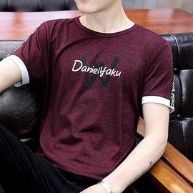 夏季新款短袖t恤男士圆领韩版冰丝打底衫潮流半袖男装体恤上衣服图片