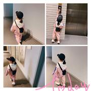 L妈 女童运动套装秋季新款女宝宝运动装洋气长袖薄款儿童两件套