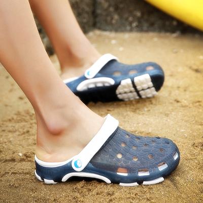 凉鞋男洞洞鞋男士拖鞋沙滩鞋夏季凉拖鞋男潮防滑男生女半拖鞋情侣