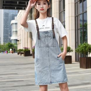 日系减夏装新款新品减半身裙子10牛仔背带裙