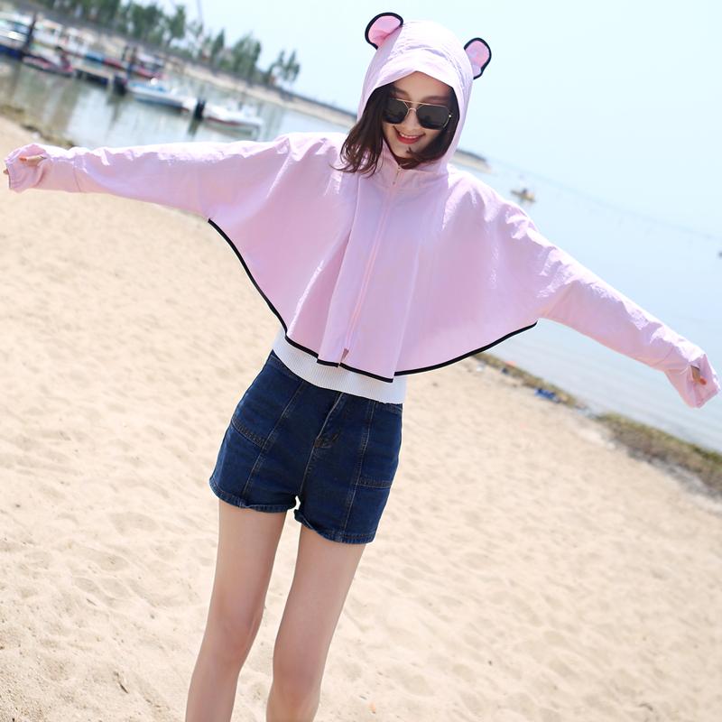 防晒衣女短款2019夏季新款薄款外套防紫外线网红时尚仙女防晒服衫