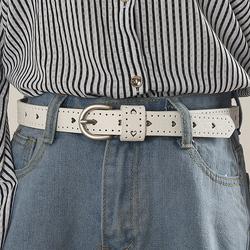2018夏季韩国可爱女生细皮带简约百搭装饰腰带学生配牛仔裤软皮白