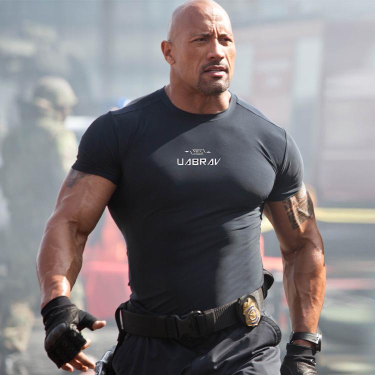 健身衣男运动训练健身服速干透气弹力紧身衣圆领上衣短袖T恤包邮