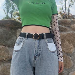 网红同款 女士皮带百搭裤 腰带ins风装 饰黑色时尚 带韩国简约牛仔裤