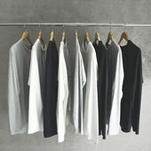 长袖 白色纯棉宽松圆领百搭青少年学生秋季衣服潮 T恤男纯色打底衫