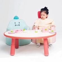 4岁幼儿可调节高度书桌子 可升降花生桌咘咘同款 宝宝游戏学习桌1