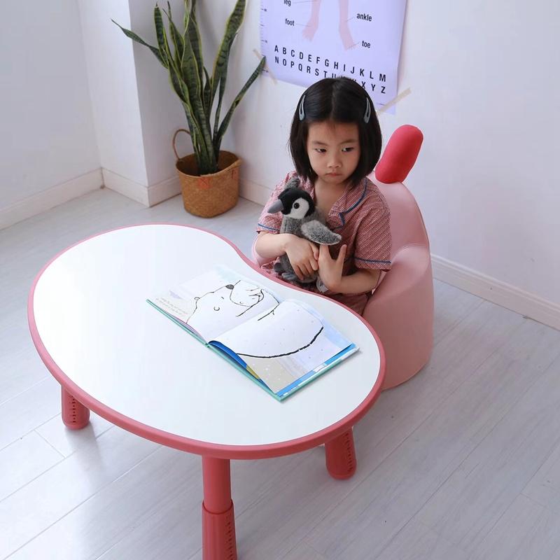 可升降花生桌咘咘同款宝宝游戏学习桌1-4岁幼儿可调节高度书桌子