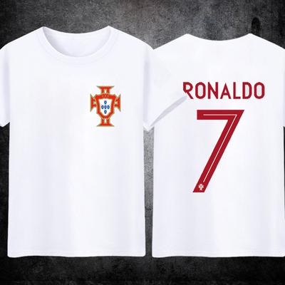 葡萄牙队球衣2018世界杯球衣国家队主场客场7号C罗足球服纯棉短袖
