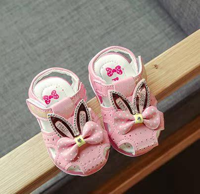 上新童鞋2017夏季上新女婴儿学步凉鞋女宝宝012岁软底包头凉鞋
