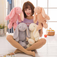 Genuine new Bond rabbit doll long-eared rabbit plush toys to appease the rabbit doll grasping machine doll
