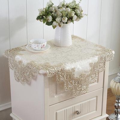 床头柜盖布 欧式蕾丝家电防尘布冰箱多用盖巾空调罩梳妆台方桌布年中大促