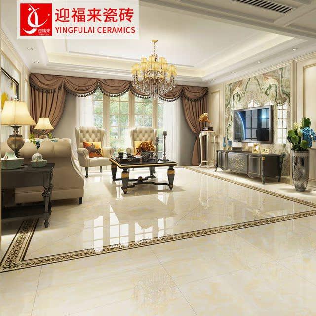 广东佛山瓷砖800*800客厅地砖800x800全抛釉背景墙 地面砖防滑