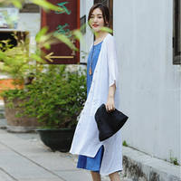 [5.14 New Products 20% Off Event Items] Can Be Produced Pear Blossom/White Linen Rashwear Air Conditioning Jacket