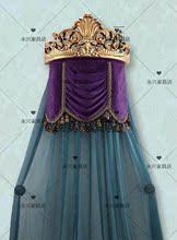 美式床幔架法式全实木雕花床冠欧式仿古宫廷皇冠公主装饰纱幔帘头