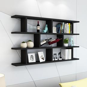 书架墙上置物架挂墙装饰架墙面壁挂酒架简约现代书柜小柜子墙壁柜