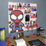 Pixel-free holes in the wall to accommodate shelf shelf children creative decoration Manwei surrounding Iron Man shelf