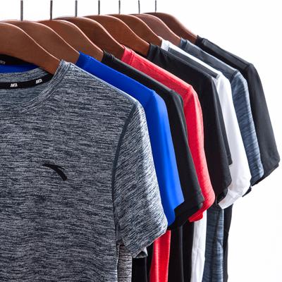 安踏运动T恤男装2019新款春夏季跑步装备上衣速干t恤男短袖健身T