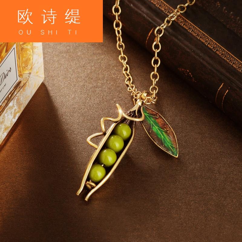 s6i歐美森系項鏈吊墜女鎖骨鏈森系頸鏈潮頸帶豌豆公主的約