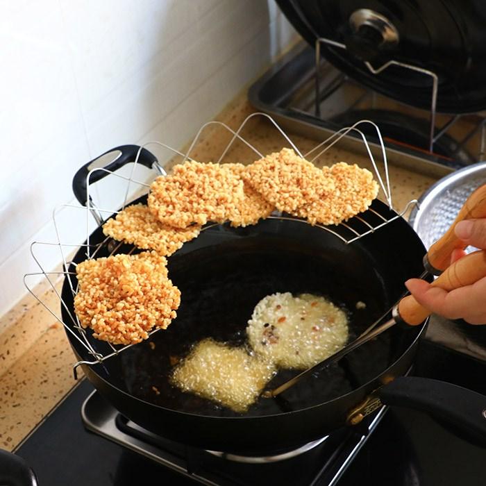 不锈钢锅巴模具 油饼模子 铜勺饼 油炸虾饼勺子 油粑粑 豆饼勺