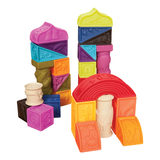 Bilal B, Toys cork can bite soft glue embossed building blocks Roman castle baby puzzle early teaching children toys
