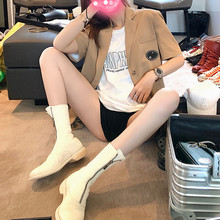 Good morning Fanfanfang net red short sleeve suit jacket for women summer 2019 new British style thin and loose small suit