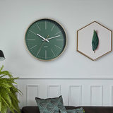 Crystal Nord green mute wall clock Nordic minimalist modern living room bedroom creative fashion personality clock
