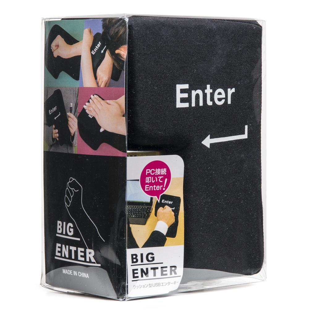 big enter键 超大回车键电脑usb 程序员发泄神器 午睡枕减压礼物