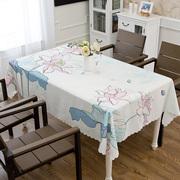 欧式田园印花风格防水小清新格子防水免洗布艺餐桌布