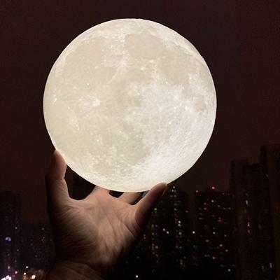 少女心放映室 3D打印月球灯 创意圣诞节礼物送女朋友男友特别浪漫