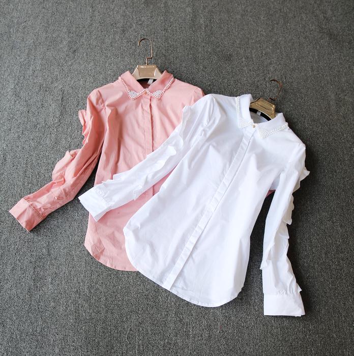 白色蕾色衬衫