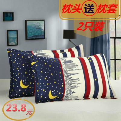 枕头枕芯一对装送枕套家用成人枕头芯单人学生护颈椎酒店羽丝绒