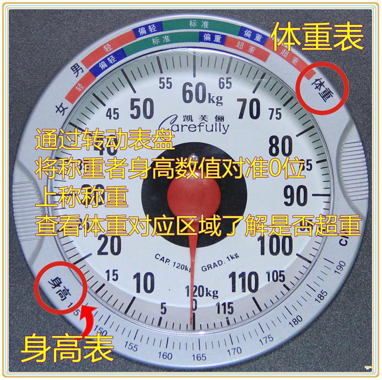 包邮凯芙俪C2000B机械称指针人体秤电子体重称减肥称弹簧秤瘦身秤
