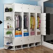 简易衣柜简约现代经济型塑料折叠双人组装收纳储物衣橱挂衣服柜子