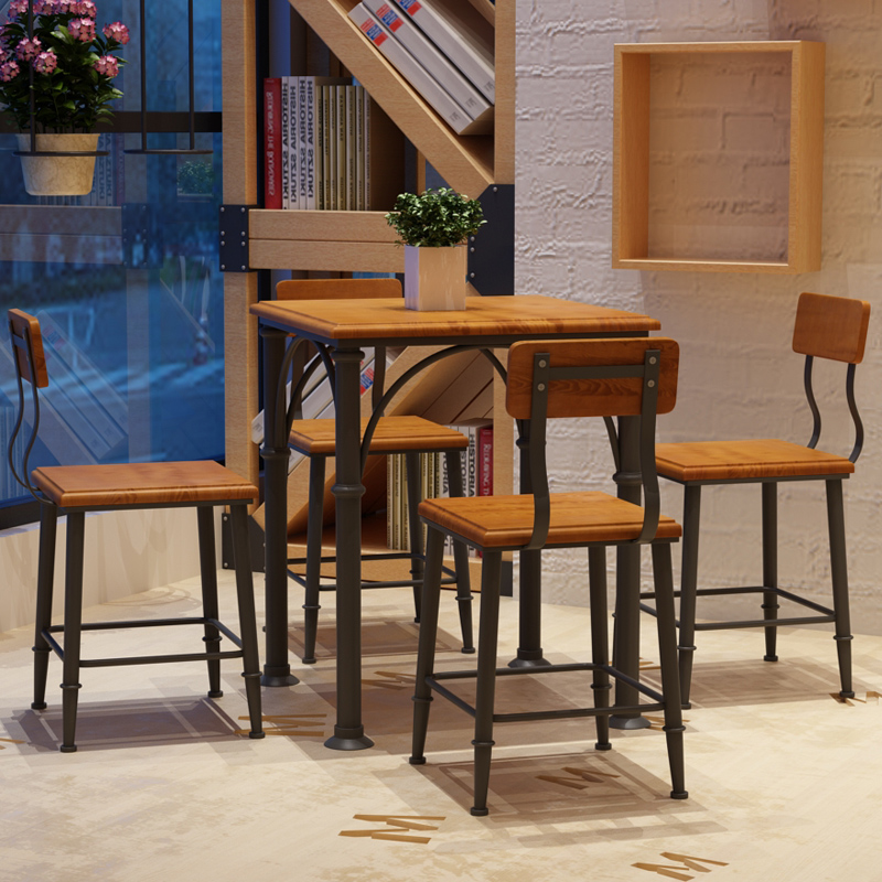 椅组合现代简约4人