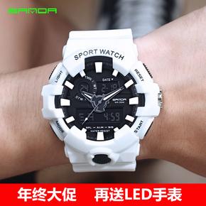 韓版運動表 潮流手表時尚ulzzang女學生手表男電子表數字式防水