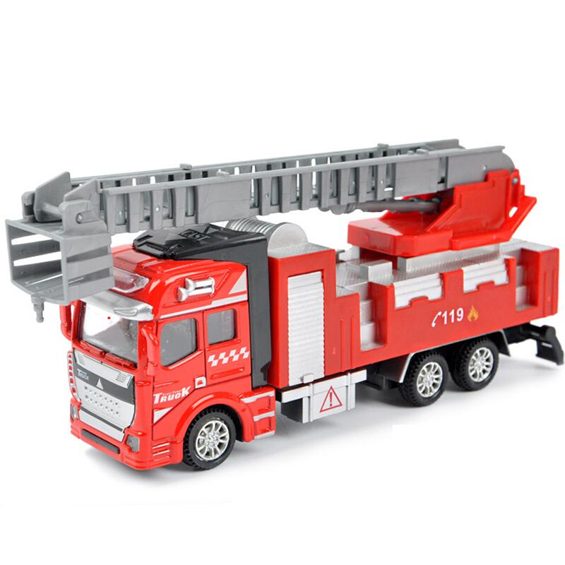迪邦 合金车仿真模型玩具车 1:48回力合金车模型军事工程车运输车