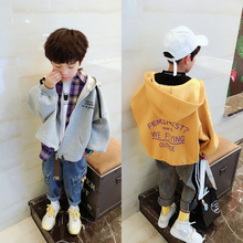 Big E and Small E Children's Wear Fall 2019 Boys and Girls Korean Edition English Printed Hat Jacket Jacket Jacket Loose Edition 2181