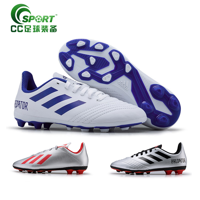 阿迪达斯Adidas PREDATOR 19.4 FxG长钉天然草儿童足球鞋CM8542